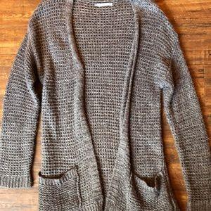 Knit long cardigan